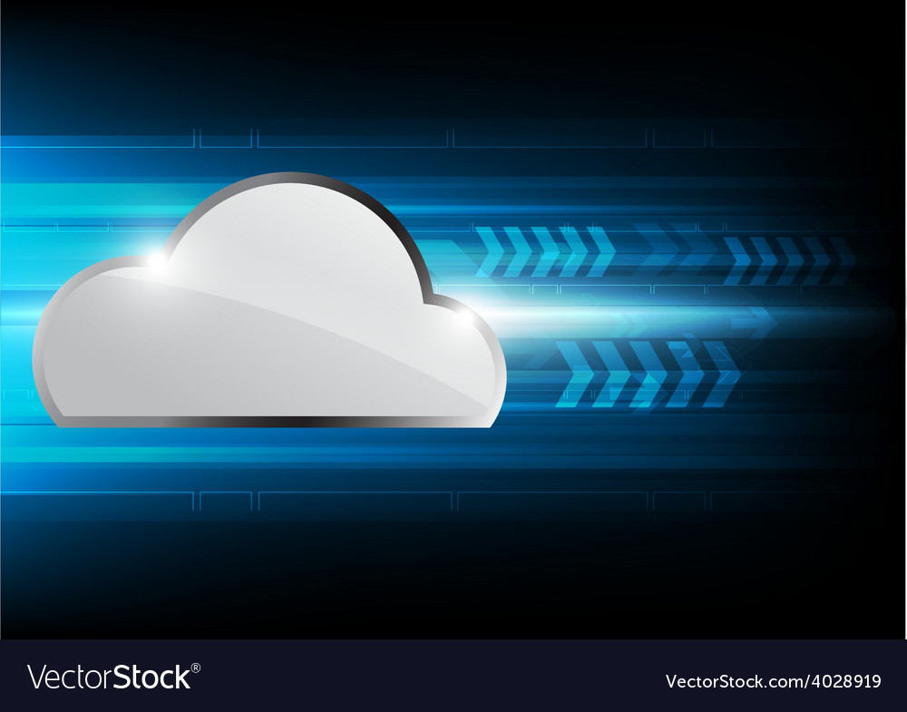 Hi speed cloud computing technology vector | Price: 1 Credit (USD $1)