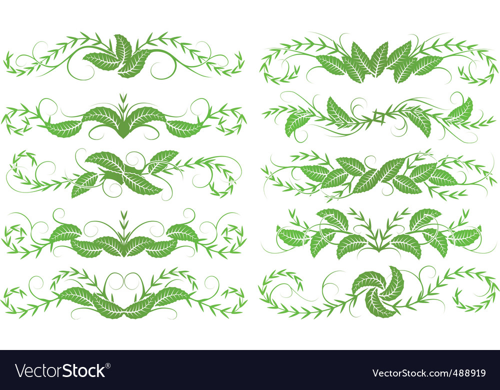 Horizontal foliage vector | Price: 1 Credit (USD $1)