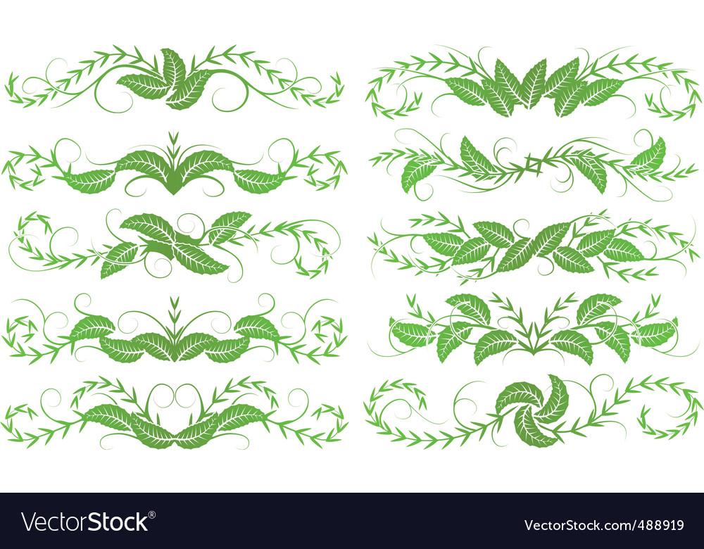 Horizontal foliage vector | Price: 1 Credit (USD $1)