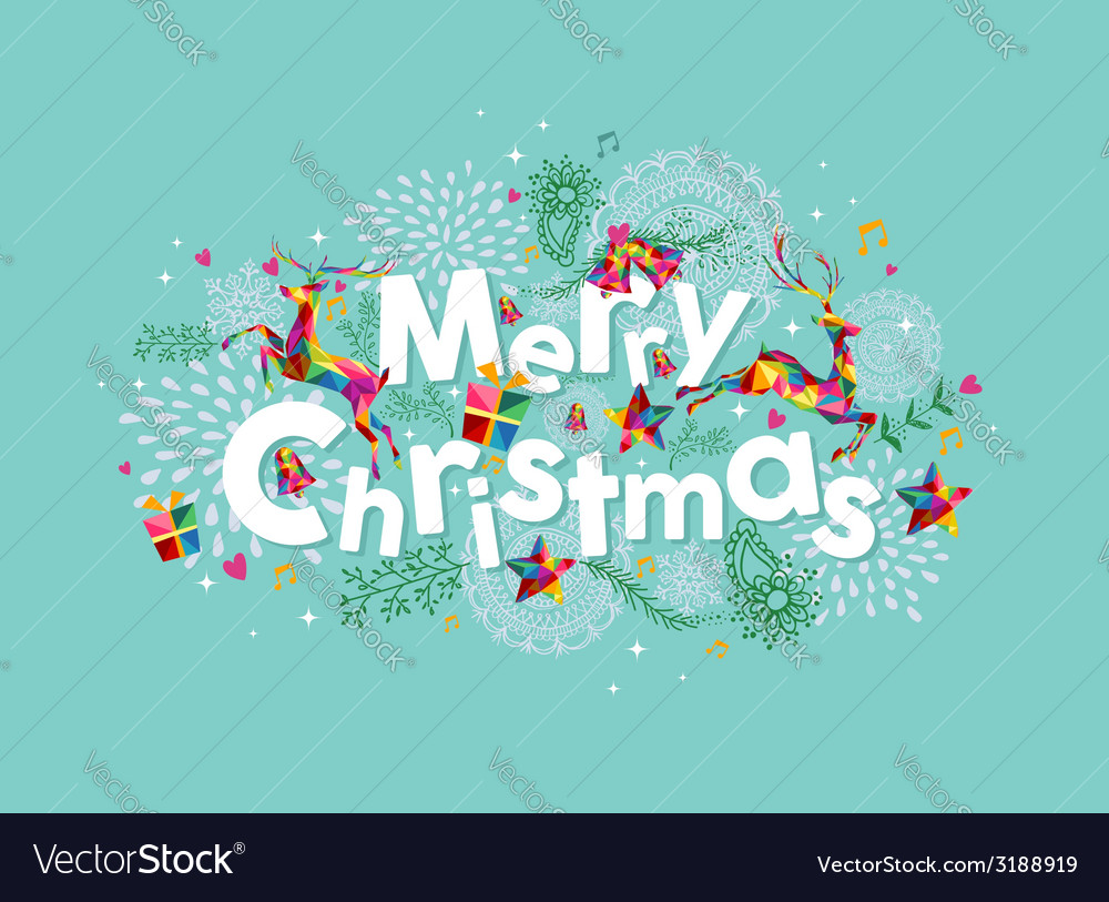 Merry christmas contemporary greeting card vector | Price: 1 Credit (USD $1)