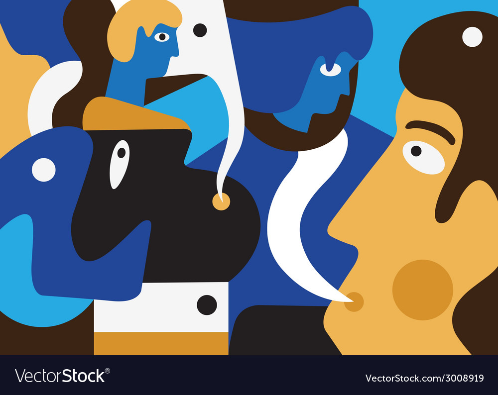 People abstract vector | Price: 1 Credit (USD $1)