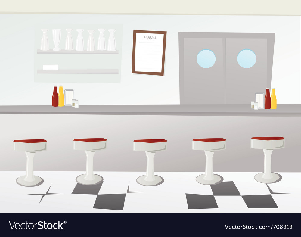 Retro diner vector | Price: 1 Credit (USD $1)