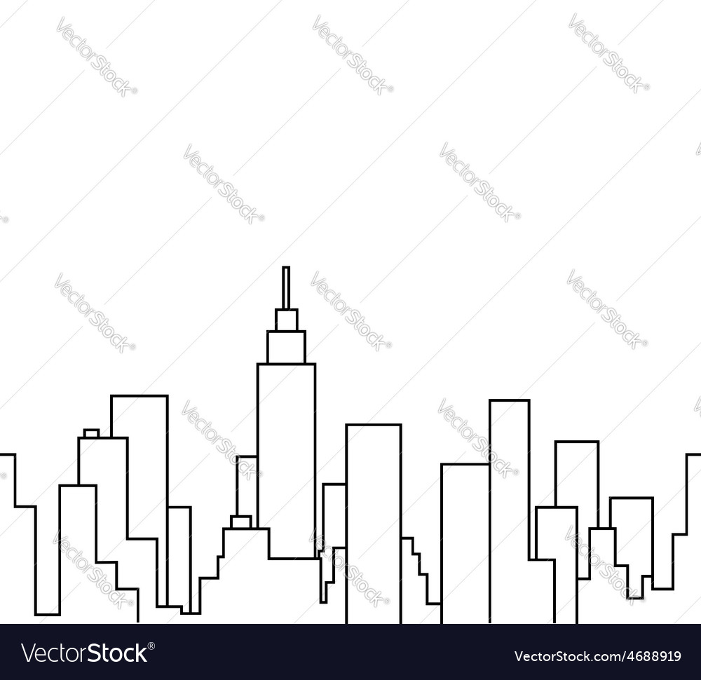 Silhouette of the cityscape vector | Price: 1 Credit (USD $1)