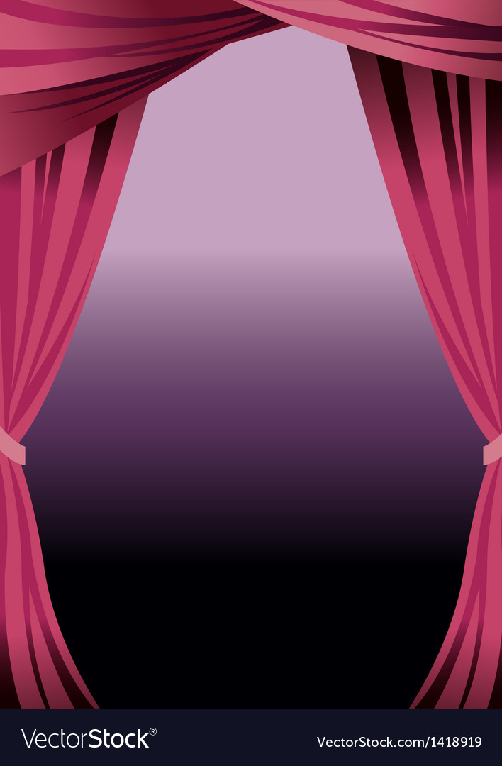 Stage curtains background vector | Price: 1 Credit (USD $1)