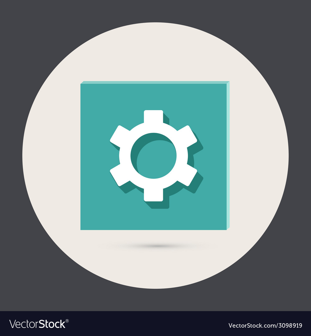 Symbol settings cogwheel vector | Price: 1 Credit (USD $1)