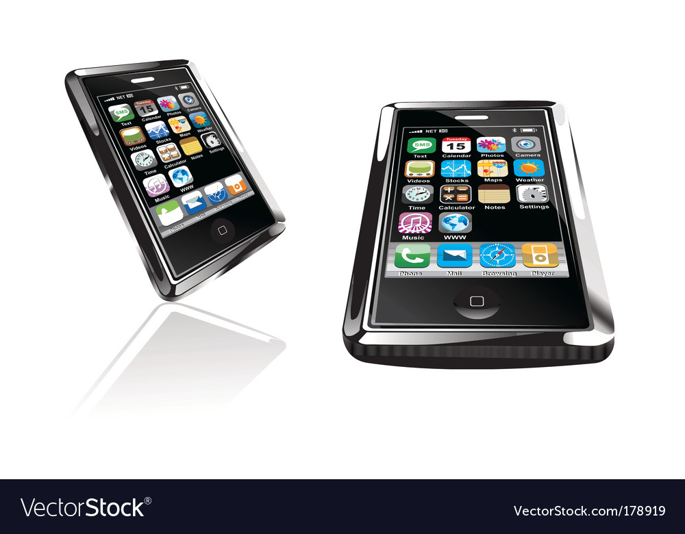 Touch screen phone vector | Price: 3 Credit (USD $3)