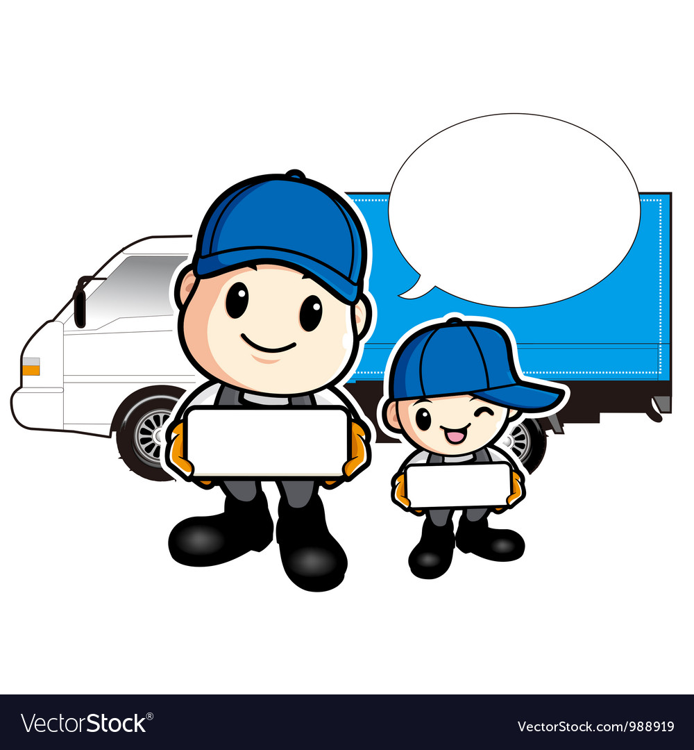 Trucks and delivered to father and son vector | Price: 3 Credit (USD $3)