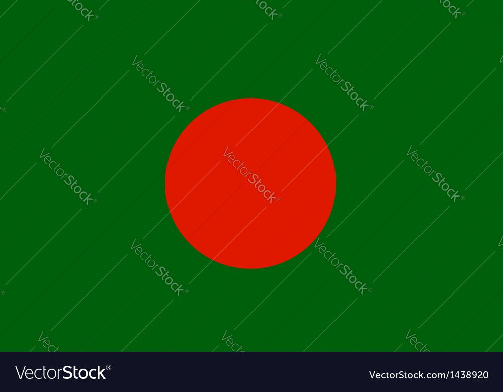 Bangladeshi flag vector | Price: 1 Credit (USD $1)