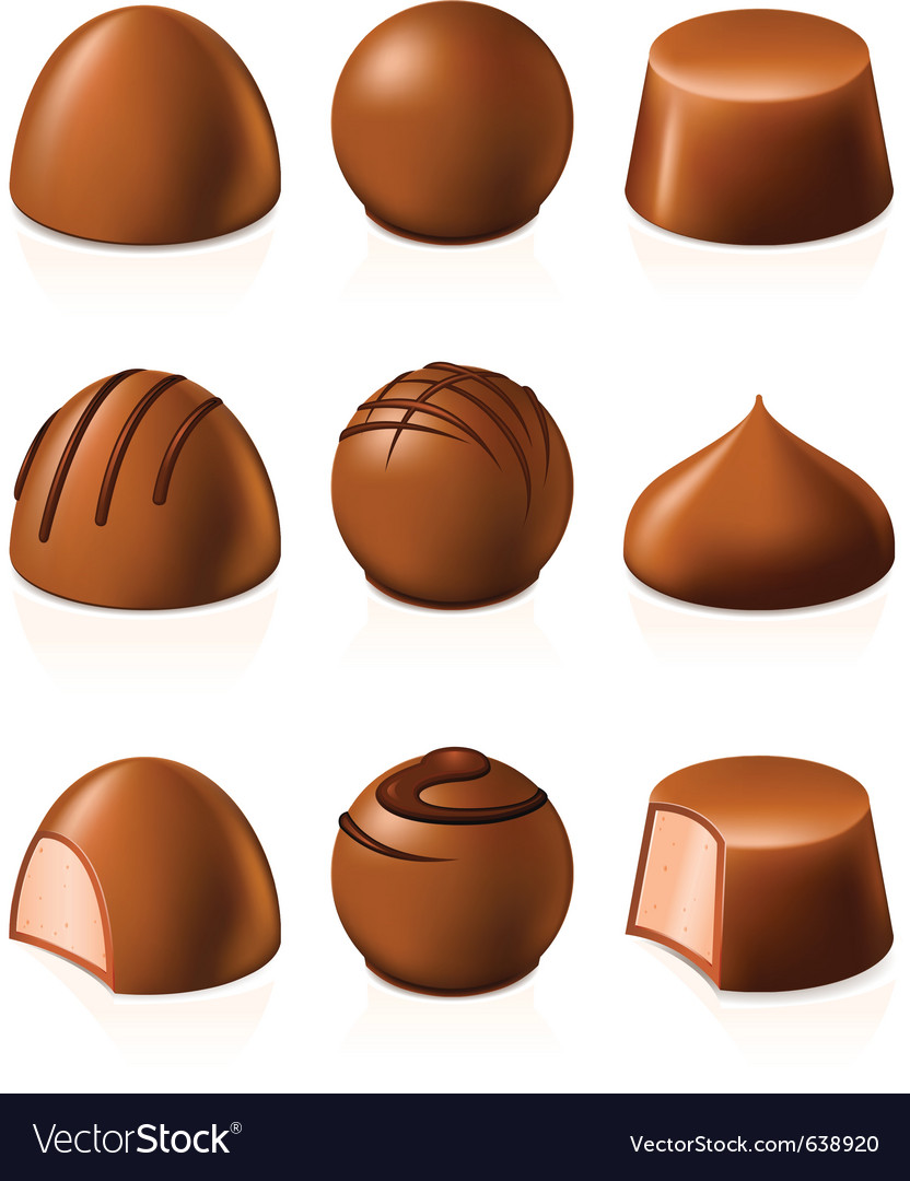Chocolate candies vector | Price: 3 Credit (USD $3)