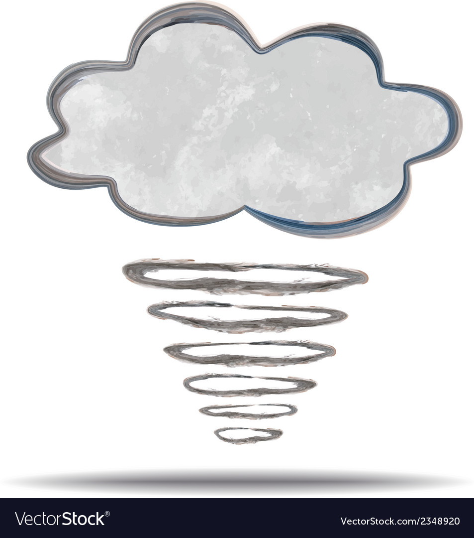 Climate cloud and hurricane vector | Price: 1 Credit (USD $1)