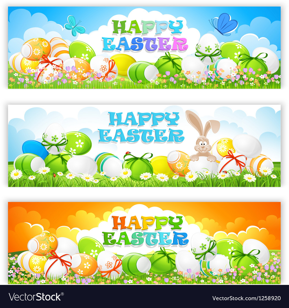 Easter banners vector | Price: 5 Credit (USD $5)
