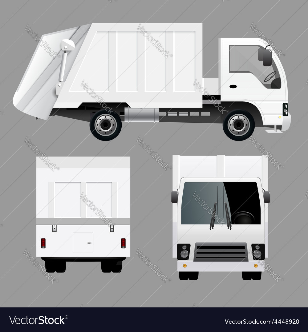 Garbage disposal truck vector