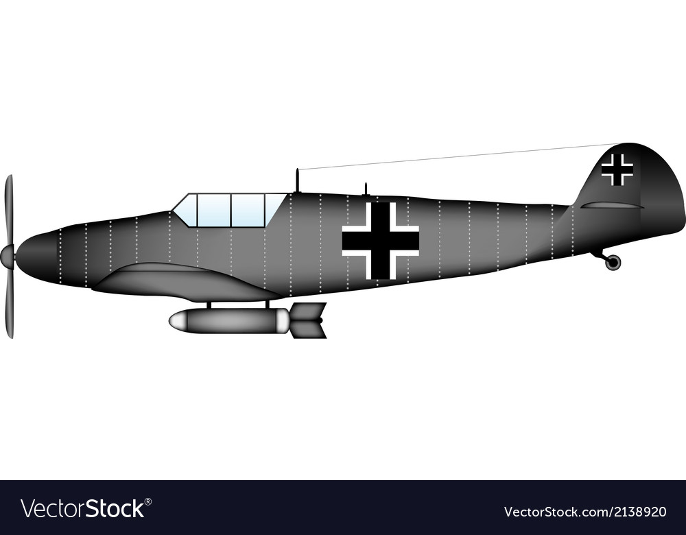 German ww2 fighter vector | Price: 1 Credit (USD $1)