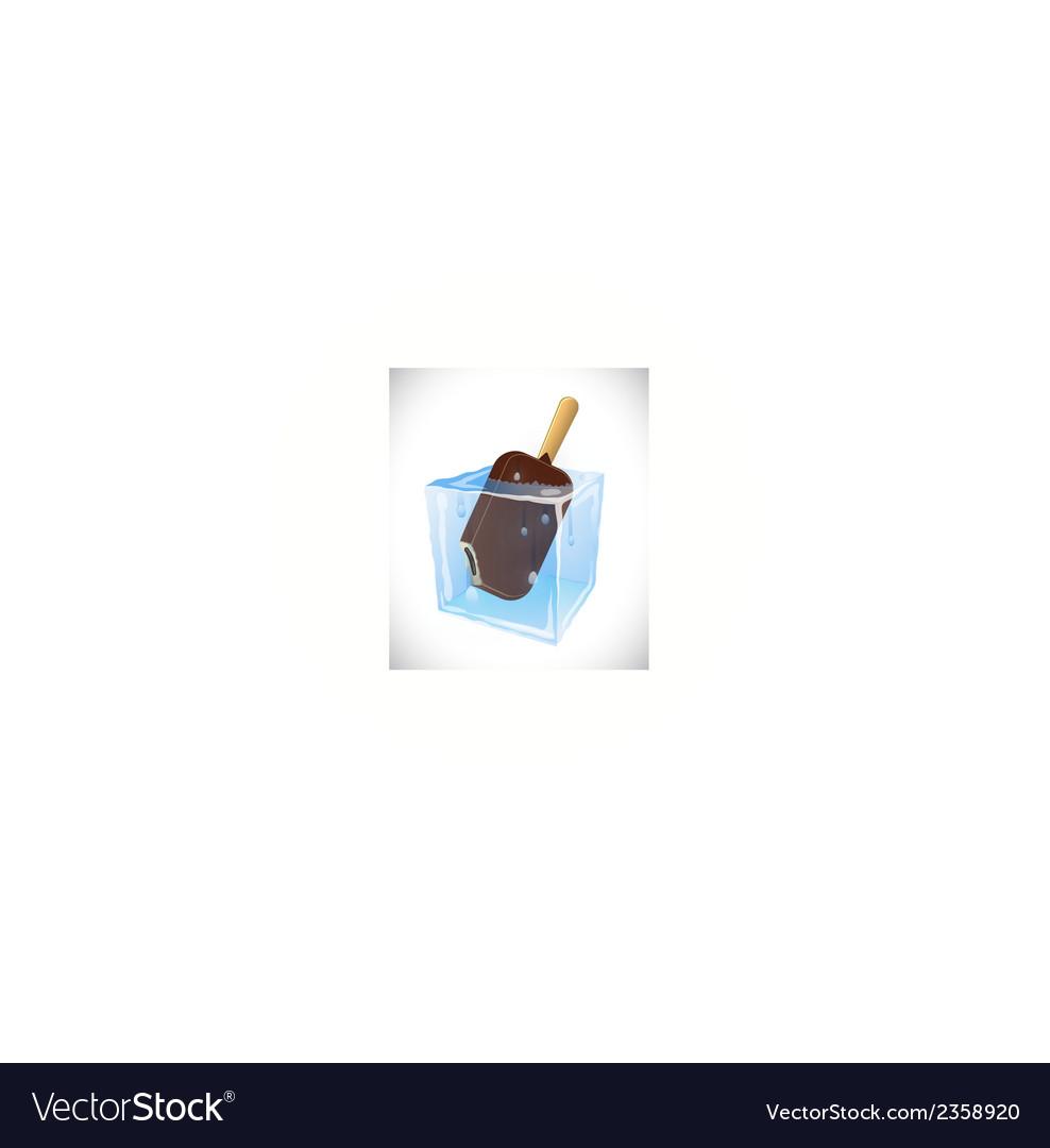 Ice cream in ice cub vector | Price: 1 Credit (USD $1)