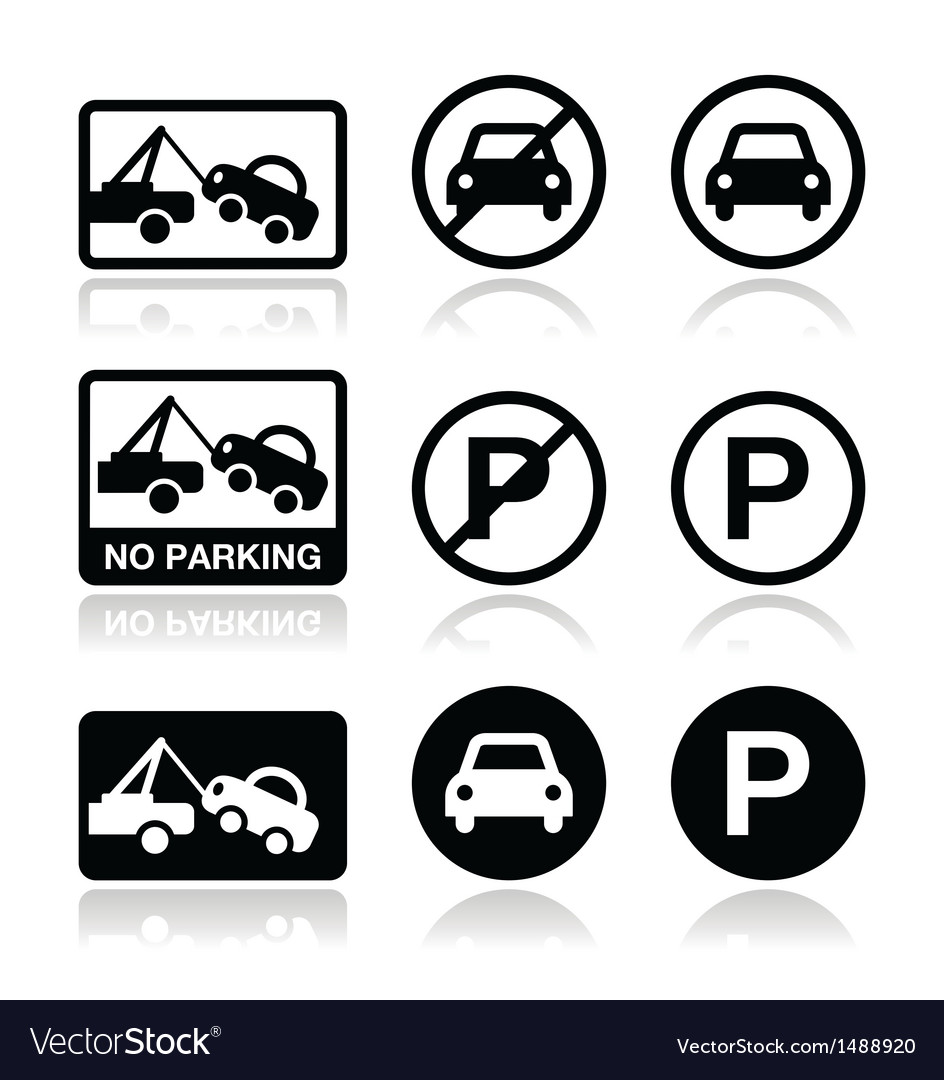 No parking parking forbidden sign vector | Price: 1 Credit (USD $1)