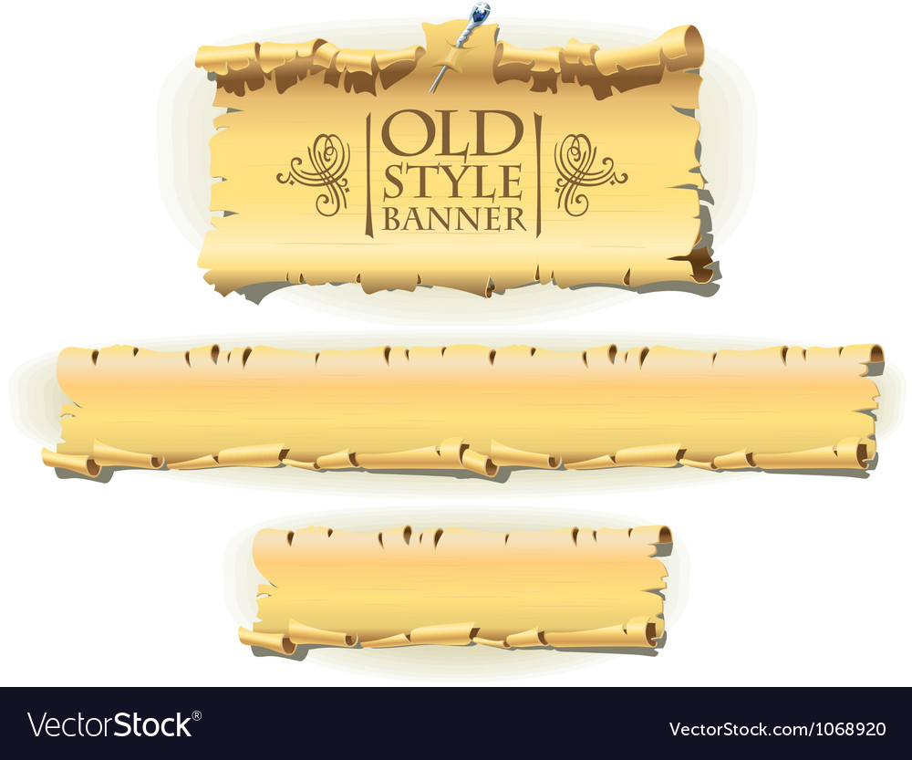 Old style banner vector | Price: 1 Credit (USD $1)