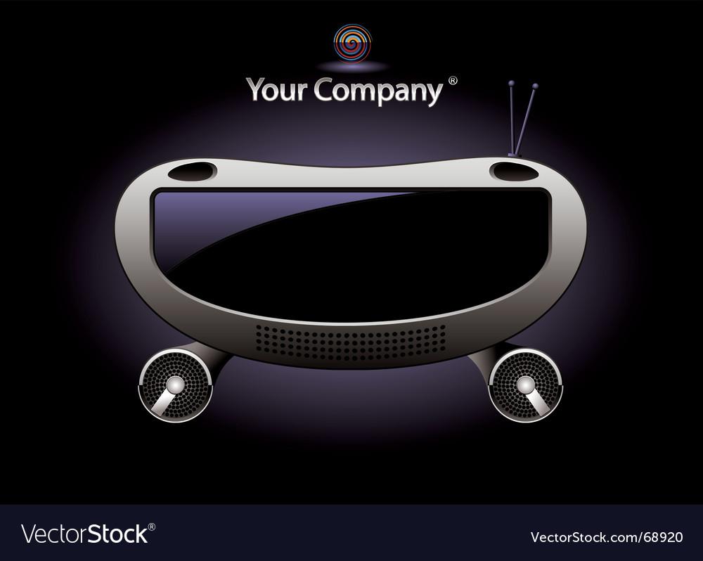 Radio console vector | Price: 1 Credit (USD $1)