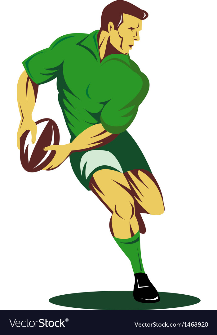 Rugby player kicking the ball vector | Price: 1 Credit (USD $1)