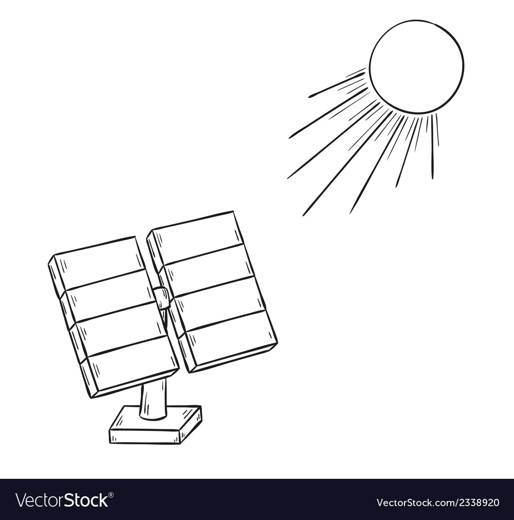 Solar power and sun vector | Price: 1 Credit (USD $1)