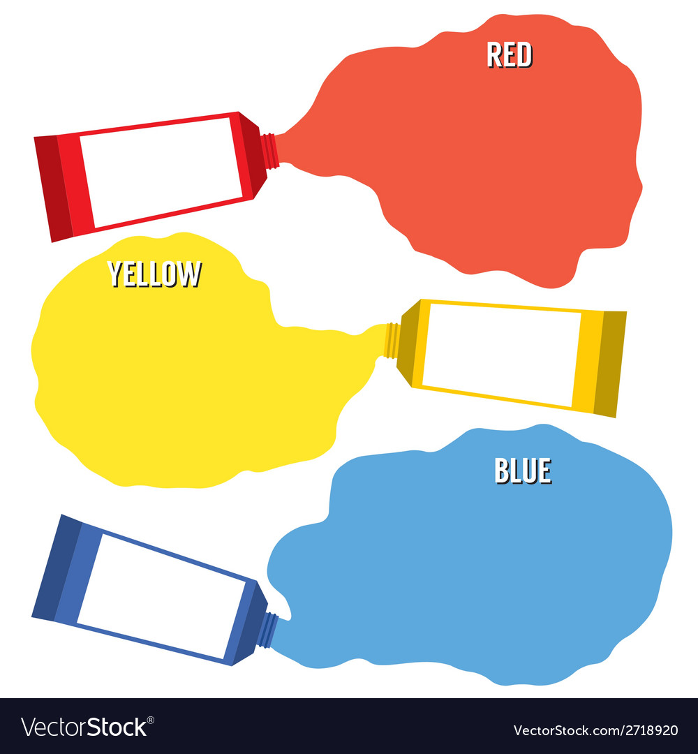 Squeezed primary color tubes vector | Price: 1 Credit (USD $1)