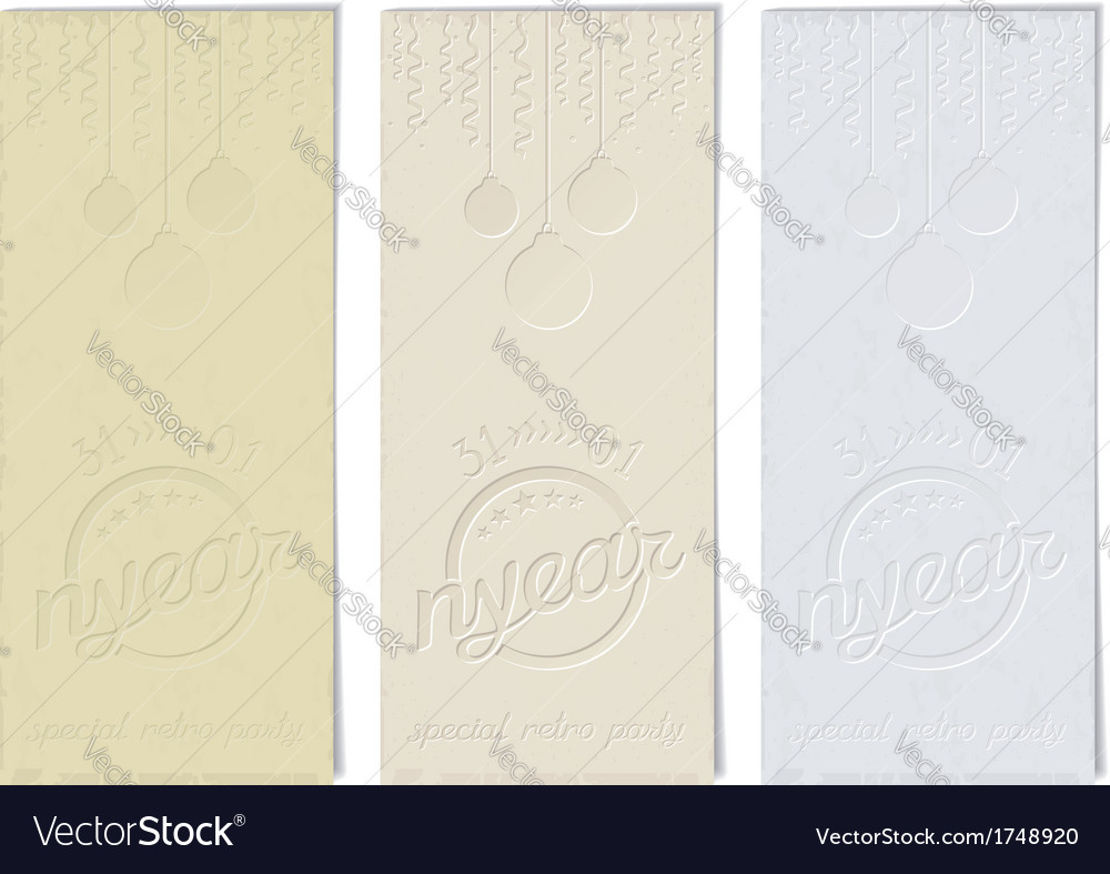 Vintage flyer on old paper for new year vector | Price: 1 Credit (USD $1)