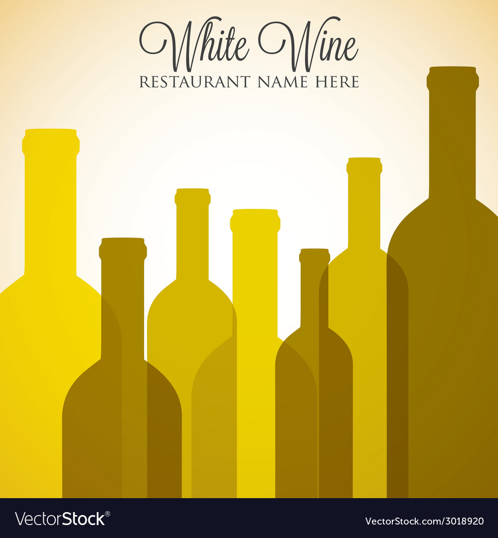White wine list menu cover in format vector | Price: 1 Credit (USD $1)
