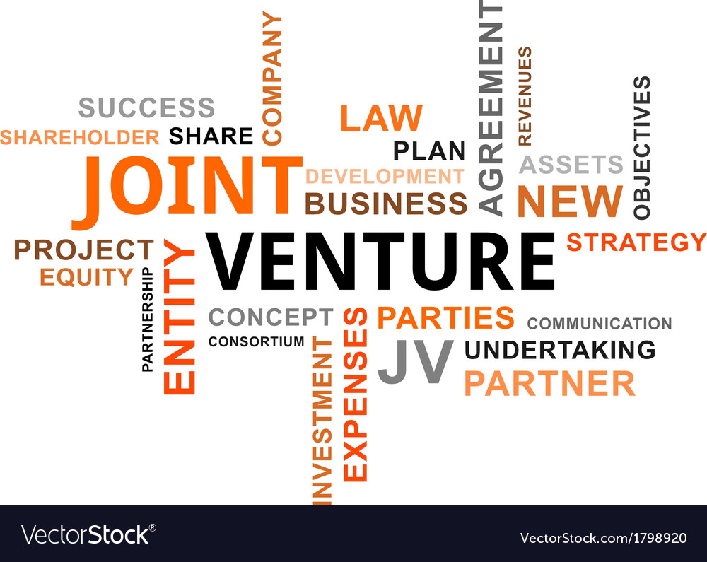 Word cloud joint venture vector | Price: 1 Credit (USD $1)
