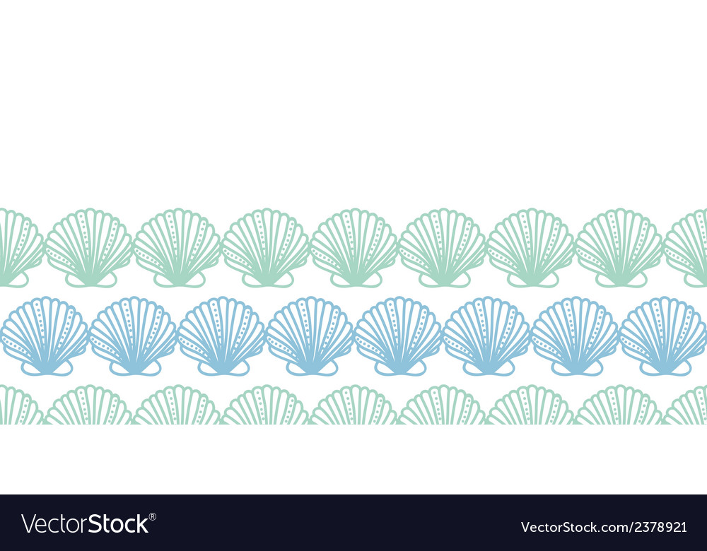 Abstract seashels stripes horizontal seamless vector | Price: 1 Credit (USD $1)