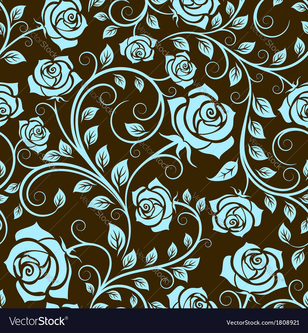 Antique scrolling rose seamless pattern vector | Price: 1 Credit (USD $1)