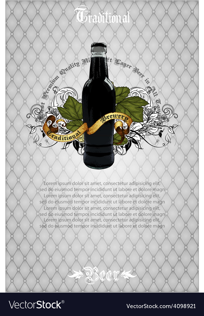 Beer background vector | Price: 3 Credit (USD $3)