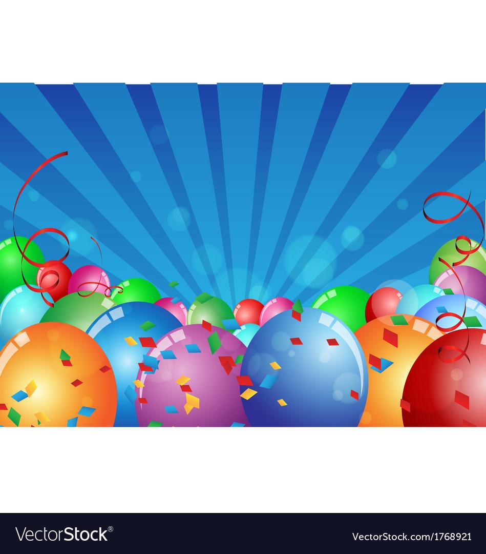 Birthday celebration background vector | Price: 1 Credit (USD $1)
