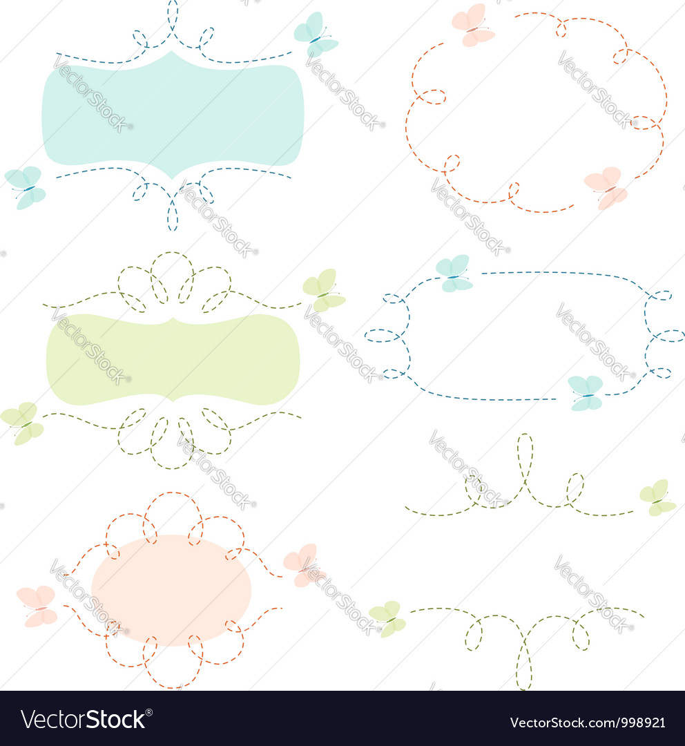 Butterflies banners vector | Price: 1 Credit (USD $1)