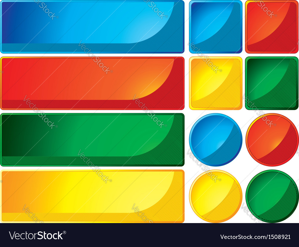 Buttons and banners vector