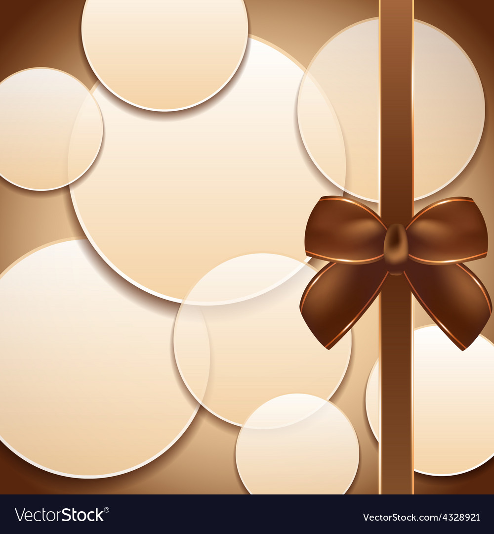 Cover of the present box abstract brown background vector | Price: 1 Credit (USD $1)