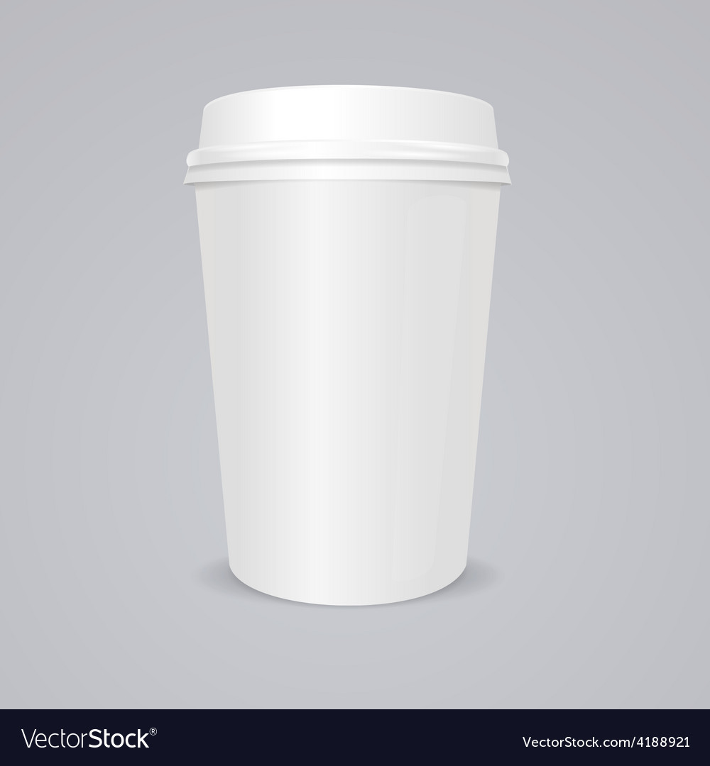 Empty coffee paper cup with lid vector | Price: 1 Credit (USD $1)