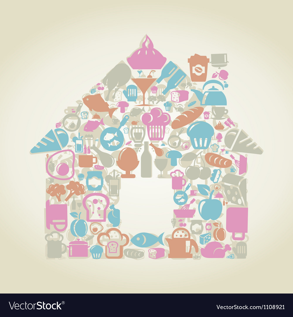 Food the house vector | Price: 1 Credit (USD $1)