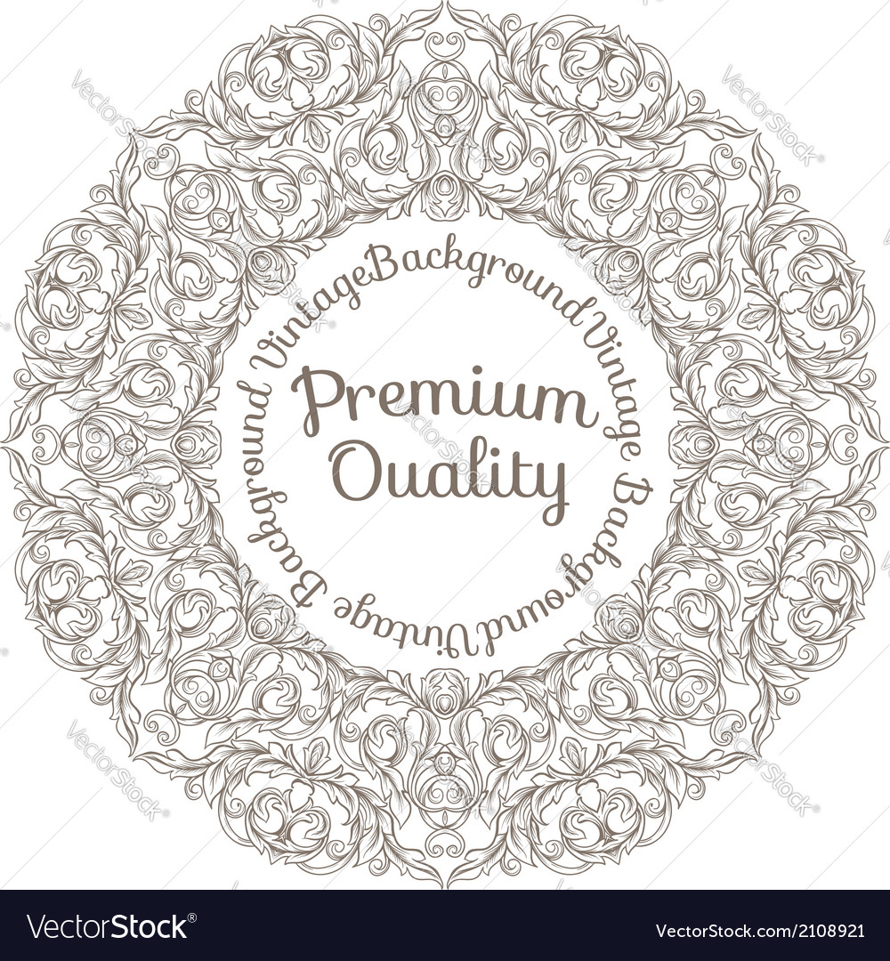 Round decorated frame vector | Price: 1 Credit (USD $1)