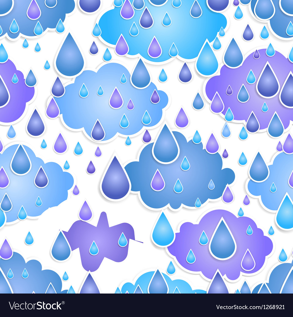 Seamless background with drops of a rain vector | Price: 1 Credit (USD $1)