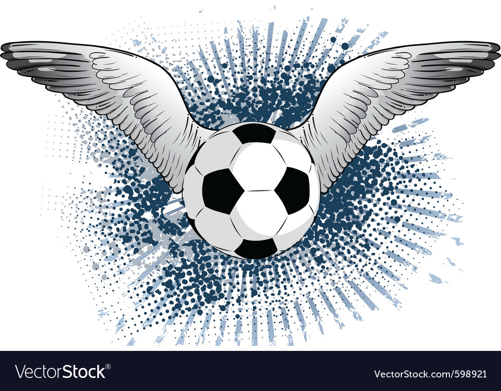 Soccer ball with two wings vector | Price: 1 Credit (USD $1)