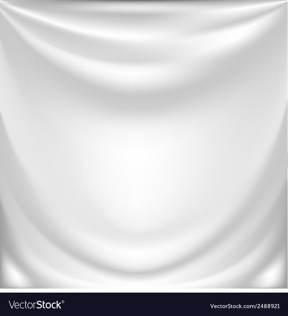 White silk drapery vector | Price: 1 Credit (USD $1)