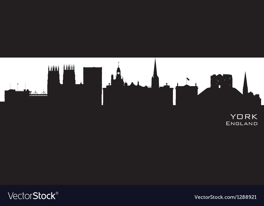 York england city skyline detailed silhouette vector | Price: 1 Credit (USD $1)