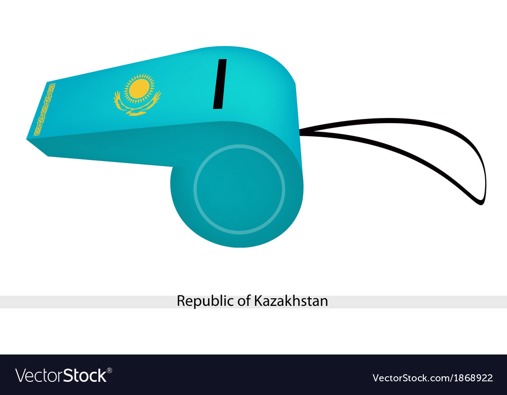 A whistle of the republic of kazakhstan vector | Price: 1 Credit (USD $1)