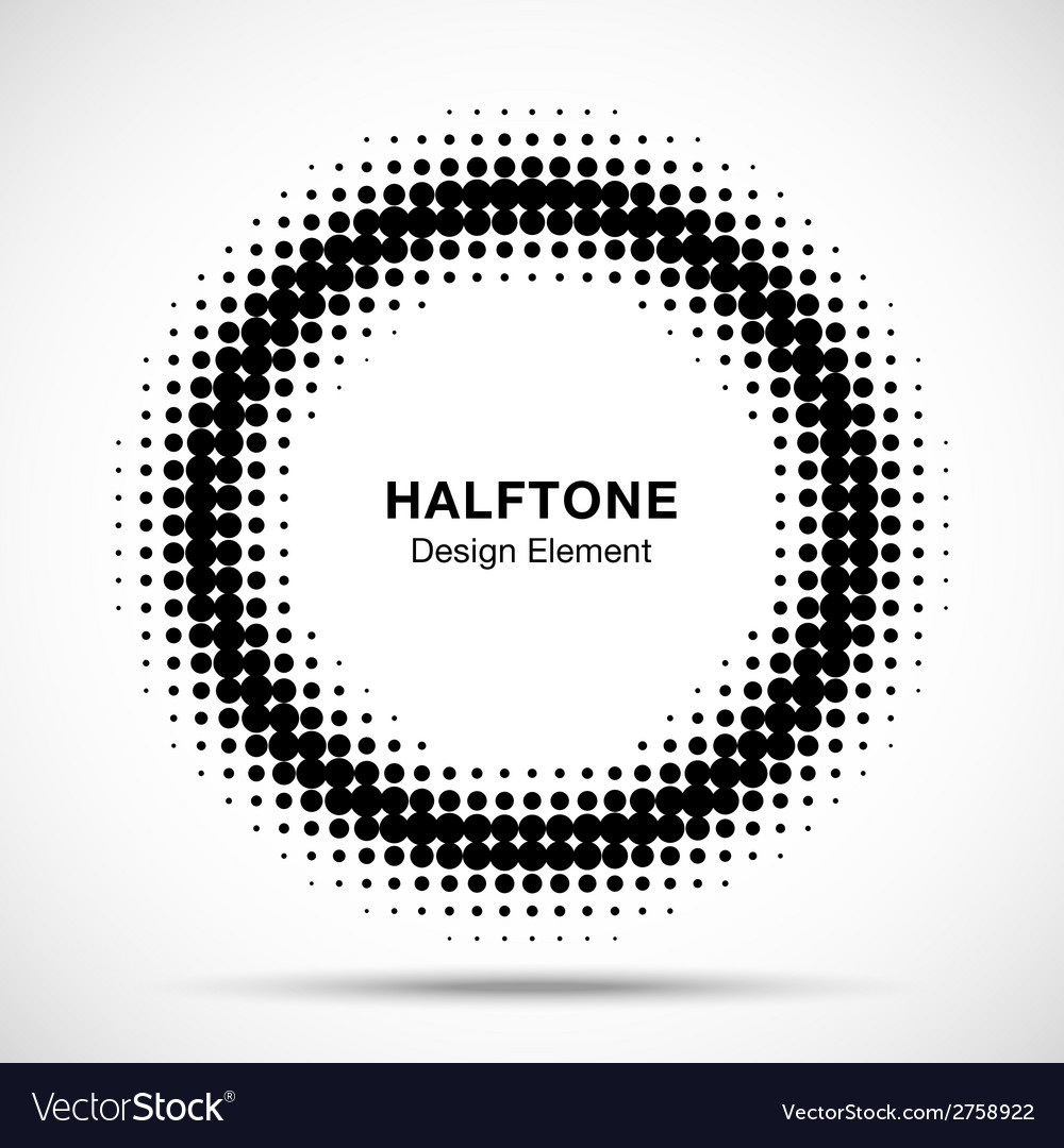 Black abstract halftone design element vector | Price: 1 Credit (USD $1)
