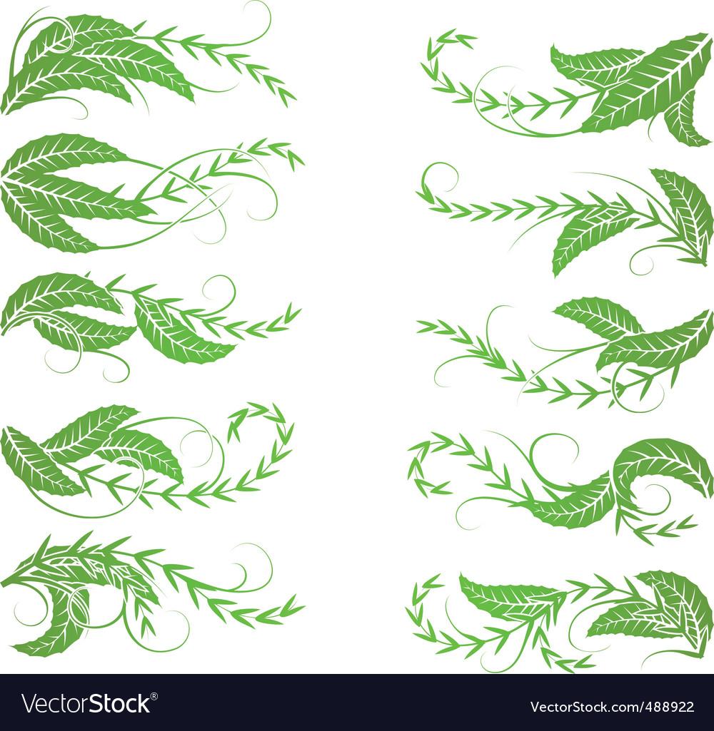 Diagonal foliage vector | Price: 1 Credit (USD $1)