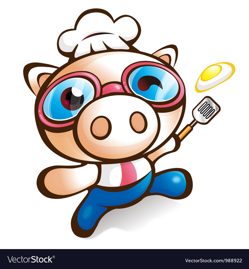 Exciting rhythm of chef pig vector | Price: 3 Credit (USD $3)
