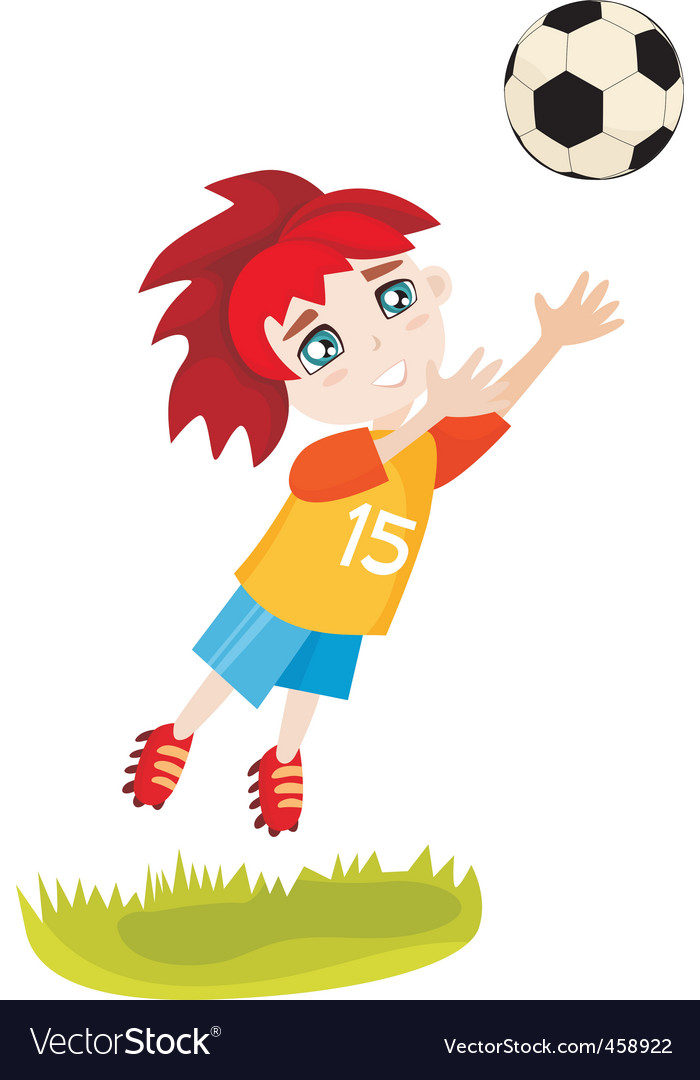 Football kid vector | Price: 1 Credit (USD $1)