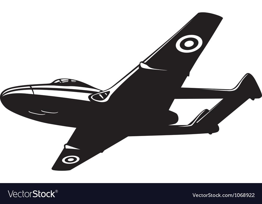 Jet fighter vampire vector | Price: 1 Credit (USD $1)