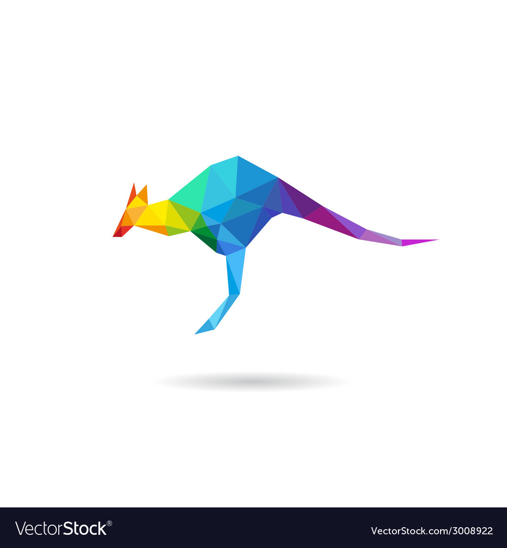 Kangaroo abstract isolated vector | Price: 1 Credit (USD $1)