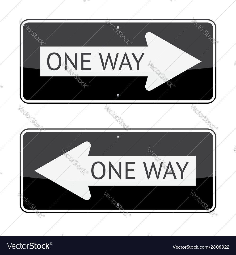 One way signs vector | Price: 1 Credit (USD $1)