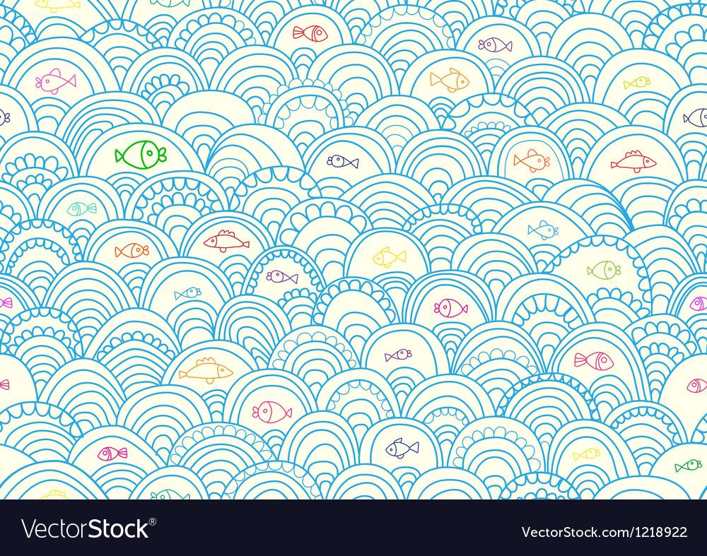 Seamless sea vector | Price: 1 Credit (USD $1)